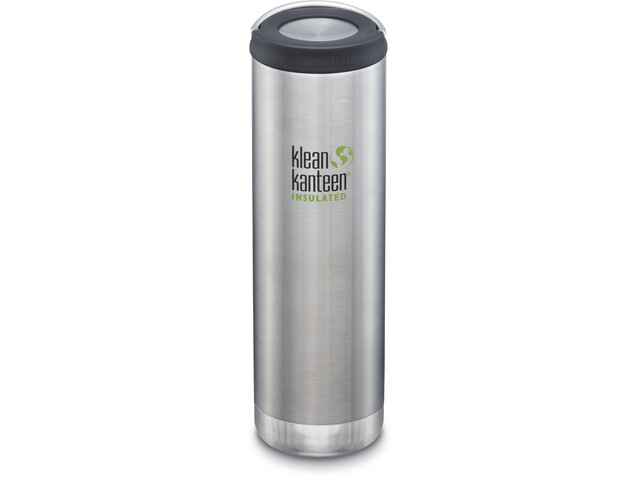 Klean Kanteen TKWide Bottle with Loop Cap 592ml Vacuum Insulated brushed stainless